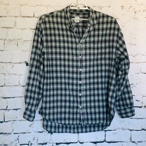 Men's Old Navy Western Shirt Black/Grey Plaid XL